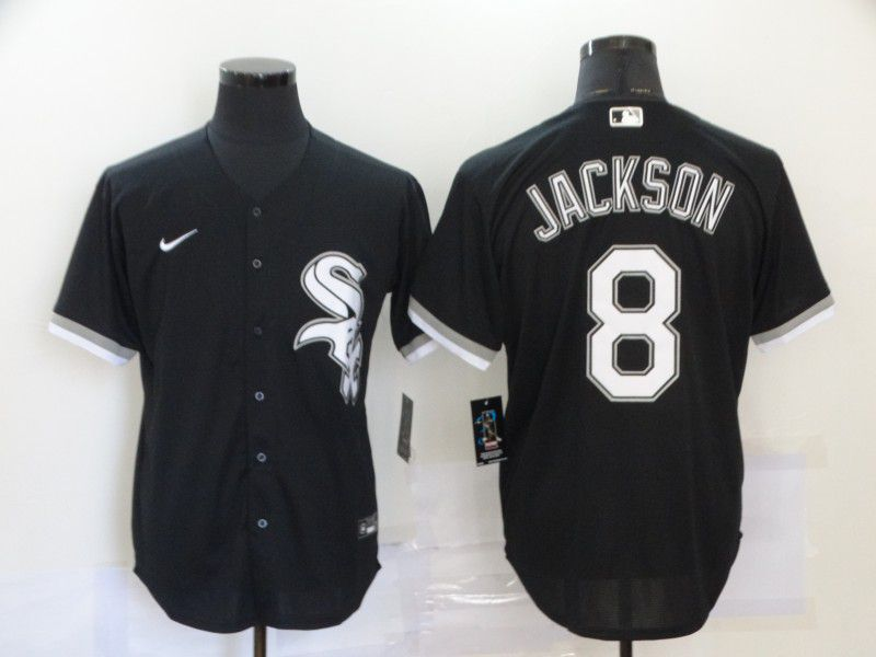 Cheap Men Chicago White Sox 8 Jackson Black 2020 MLB Nike Game Jerseys