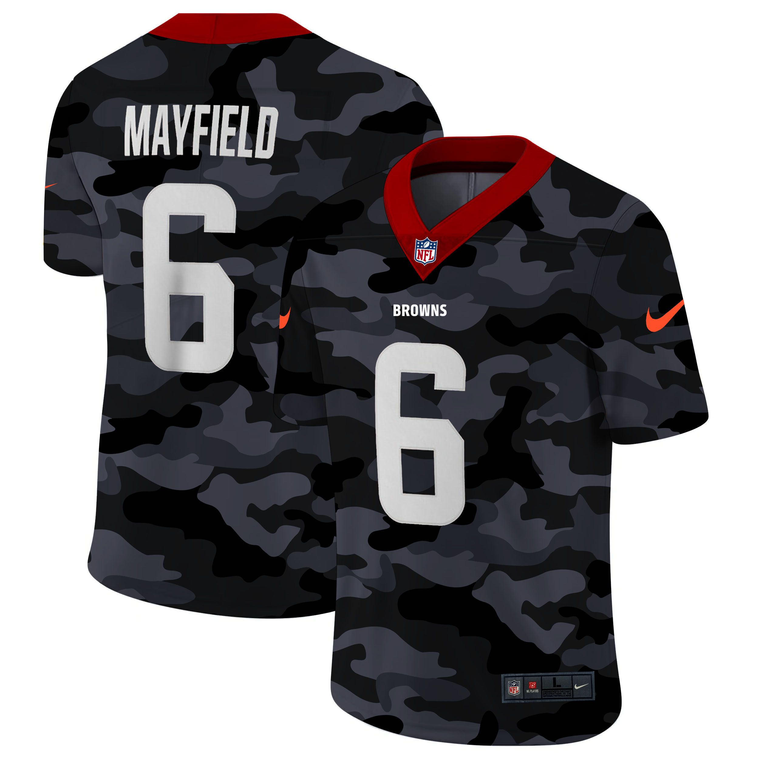 Wholesale Men Cleveland Browns 6 Mayfield 2020 Nike Camo Salute to Service Limited NFL Jerseys