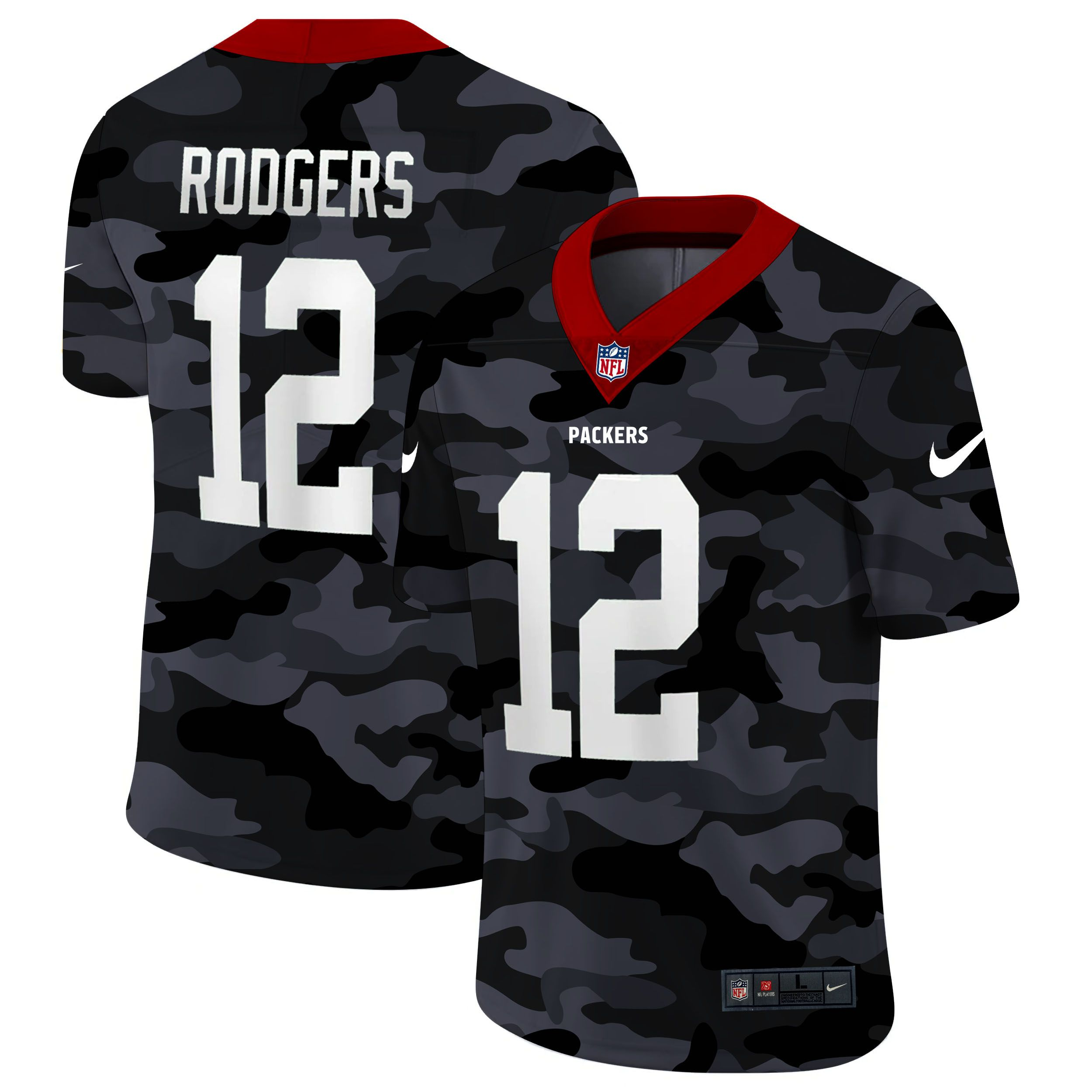 Cheap Men Green Bay Packers 12 Rodgers 2020 Nike Camo Salute to Service New Limited NFL Jerseys