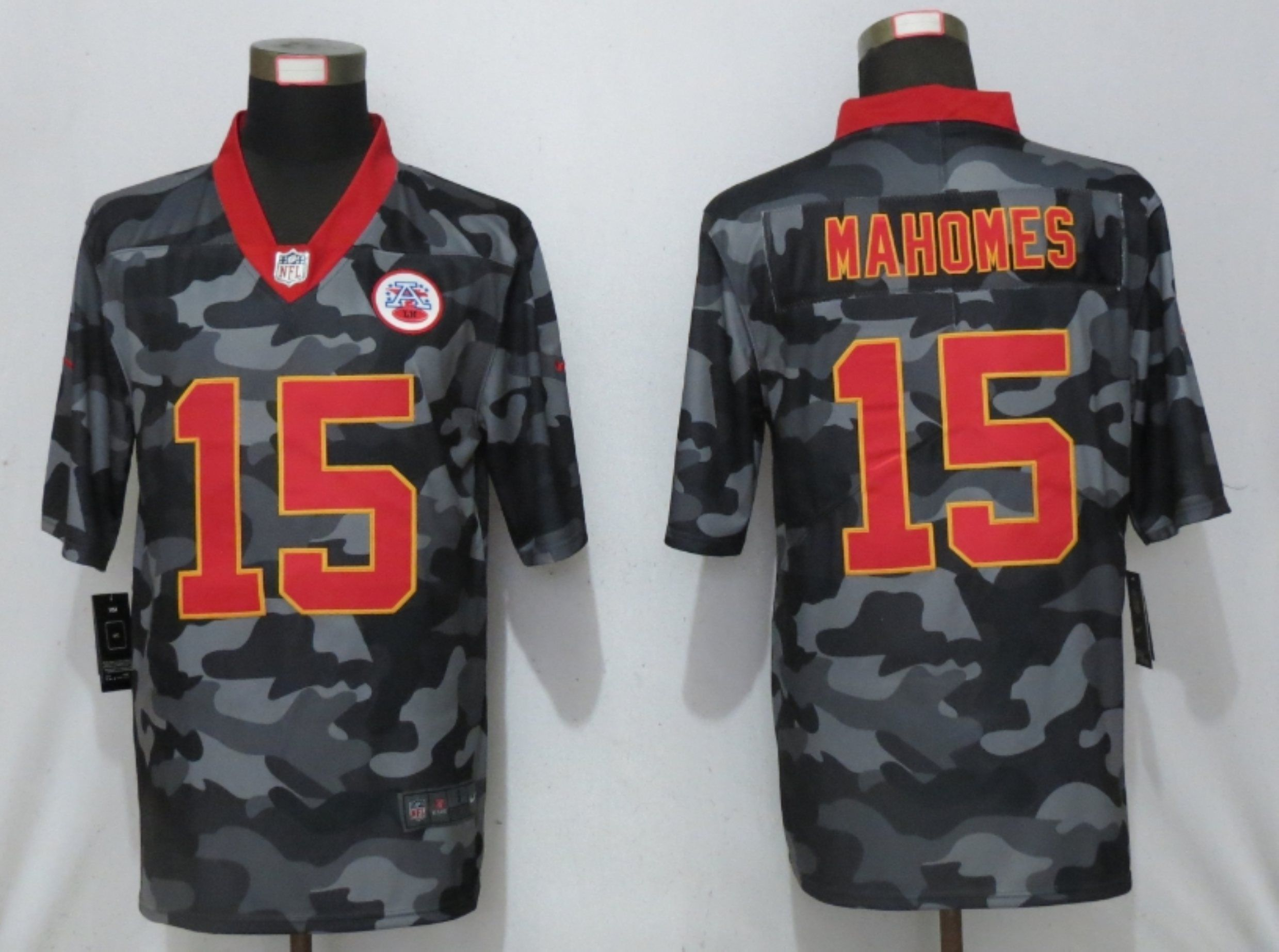 Wholesale Men Kansas City Chiefs 15 Green 2020 Nike 2nd Camo Salute to Service Limited NFL Jerseys