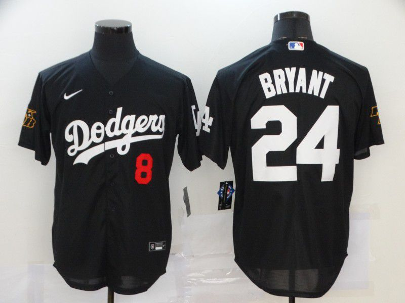 Cheap Men Los Angeles Dodgers 24 Bryant Black Game 2020 MLB Nike Jerseys
