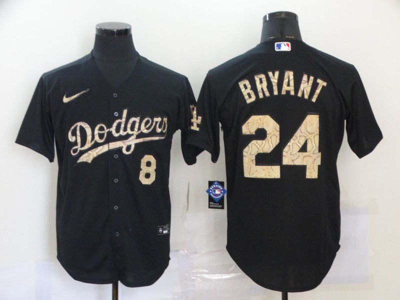 Cheap Men Los Angeles Dodgers 24 Bryant Black Nike Game MLB Jerseys