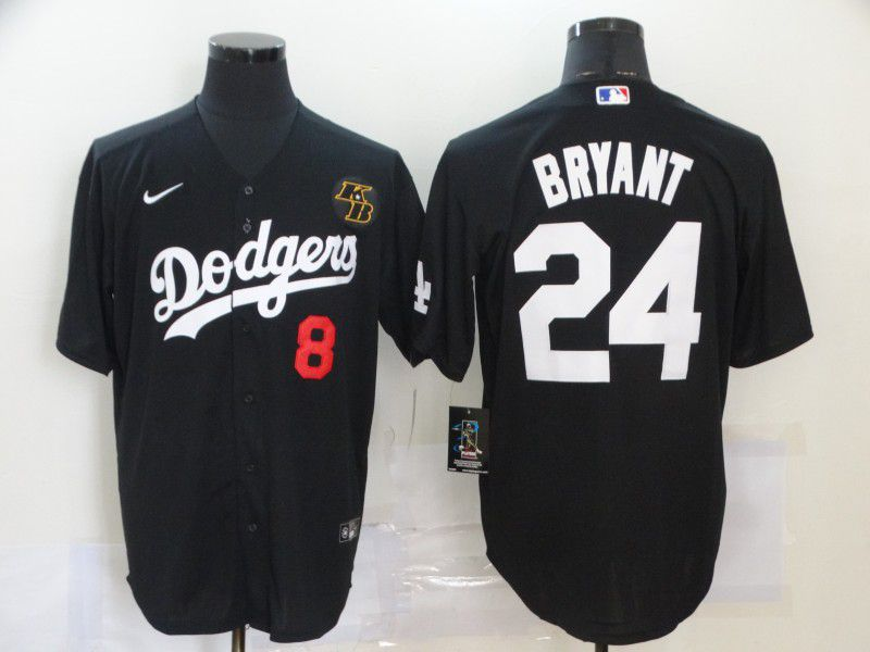 Cheap Men Los Angeles Dodgers 24 Bryant Black Nike Game MLB Jerseys1