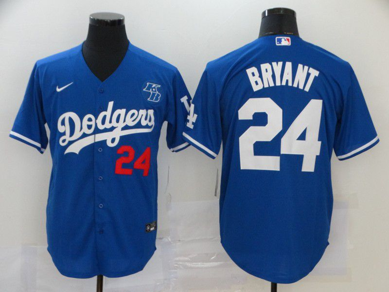 Cheap Men Los Angeles Dodgers 24 Bryant Blue Game 2020 MLB Nike Jerseys