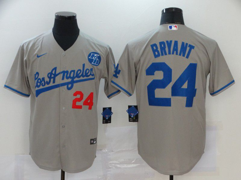 Cheap Men Los Angeles Dodgers 24 Bryant Grey Game 2020 MLB Nike Jerseys