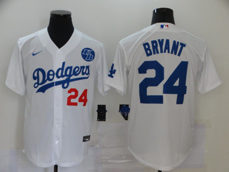 Cheap Men Los Angeles Dodgers 24 Bryant White Game 2020 MLB Nike Jerseys