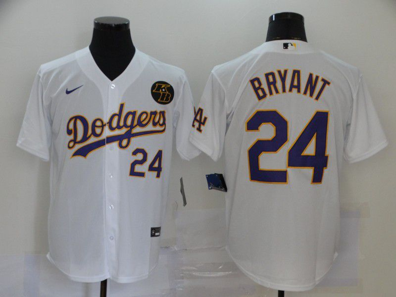 Cheap Men Los Angeles Dodgers 24 Bryant White Game 2020 MLB Nike Jerseys1