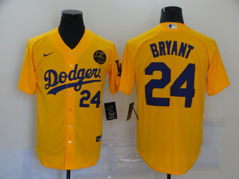 Cheap Men Los Angeles Dodgers 24 Bryant Yellow Game 2020 MLB Nike Jerseys