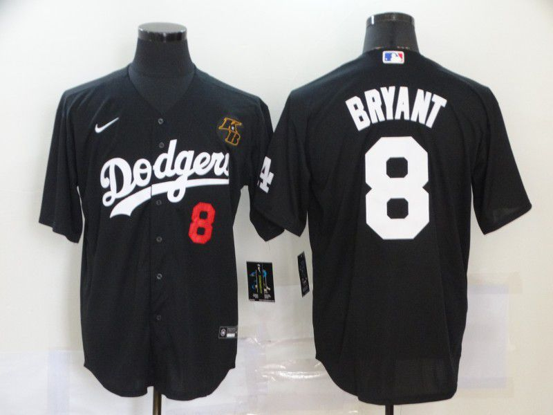 Cheap Men Los Angeles Dodgers 8 Bryant Black Nike Game MLB Jerseys1