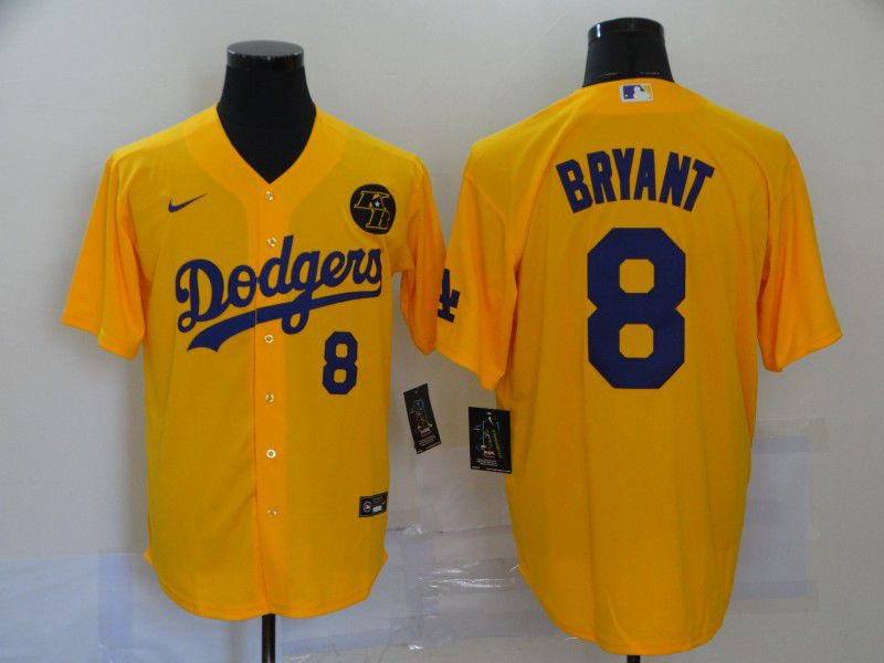 Cheap Men Los Angeles Dodgers 8 Bryant Yellow Game 2020 MLB Nike Jerseys