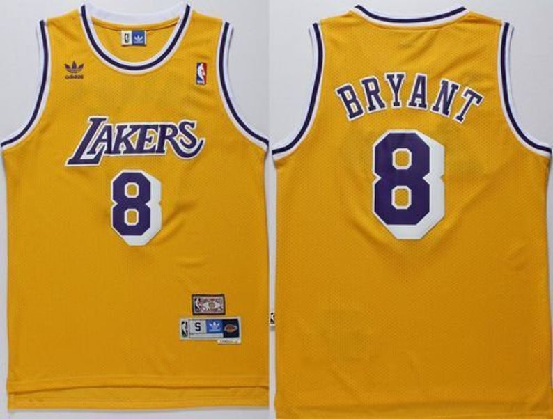 Wholesale Men Los Angeles Lakers 8 Bryant Yellow Game Nike NBA Jerseys with the round neck