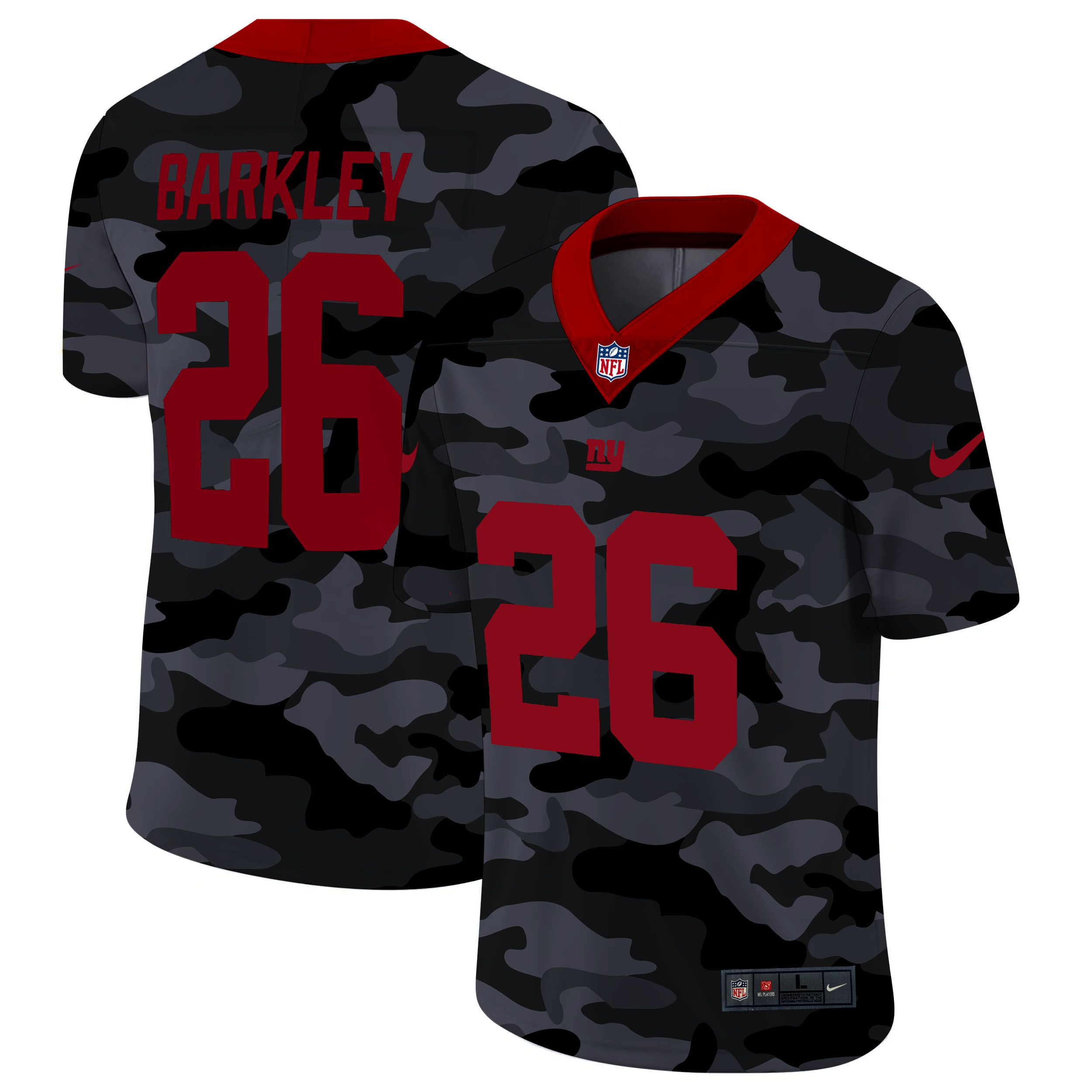 Cheap Men New York Giants 26 Barkley 2020 Nike 2nd Camo Salute to Service Limited NFL Jerseys
