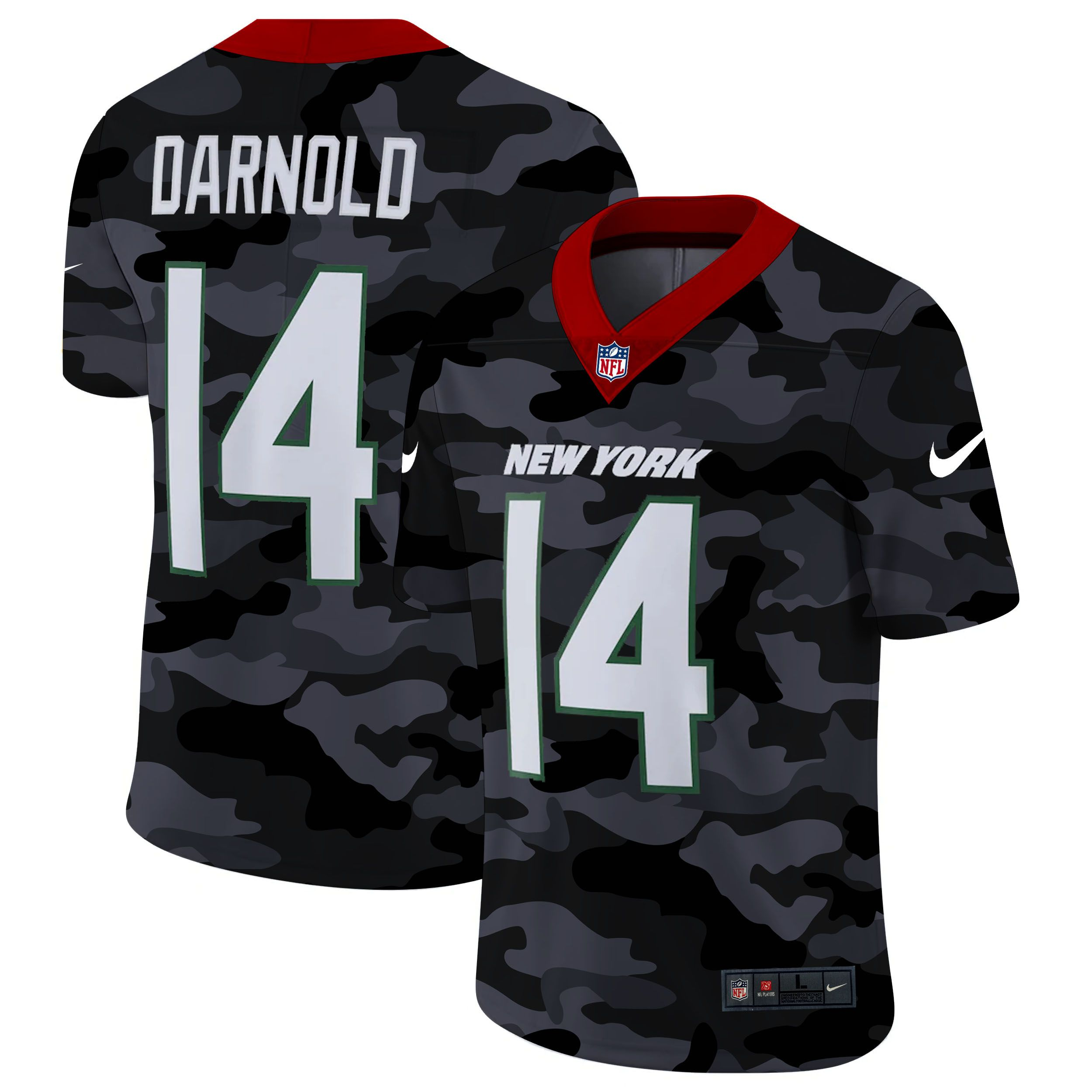 Wholesale Men New York Jets 14 Darnold 2020 Nike Camo Salute to Service Limited NFL Jerseys