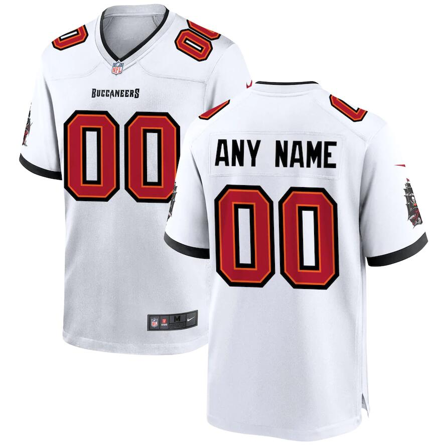 Cheap Men Nike Tampa Bay Buccaneers White Custom Game Jersey