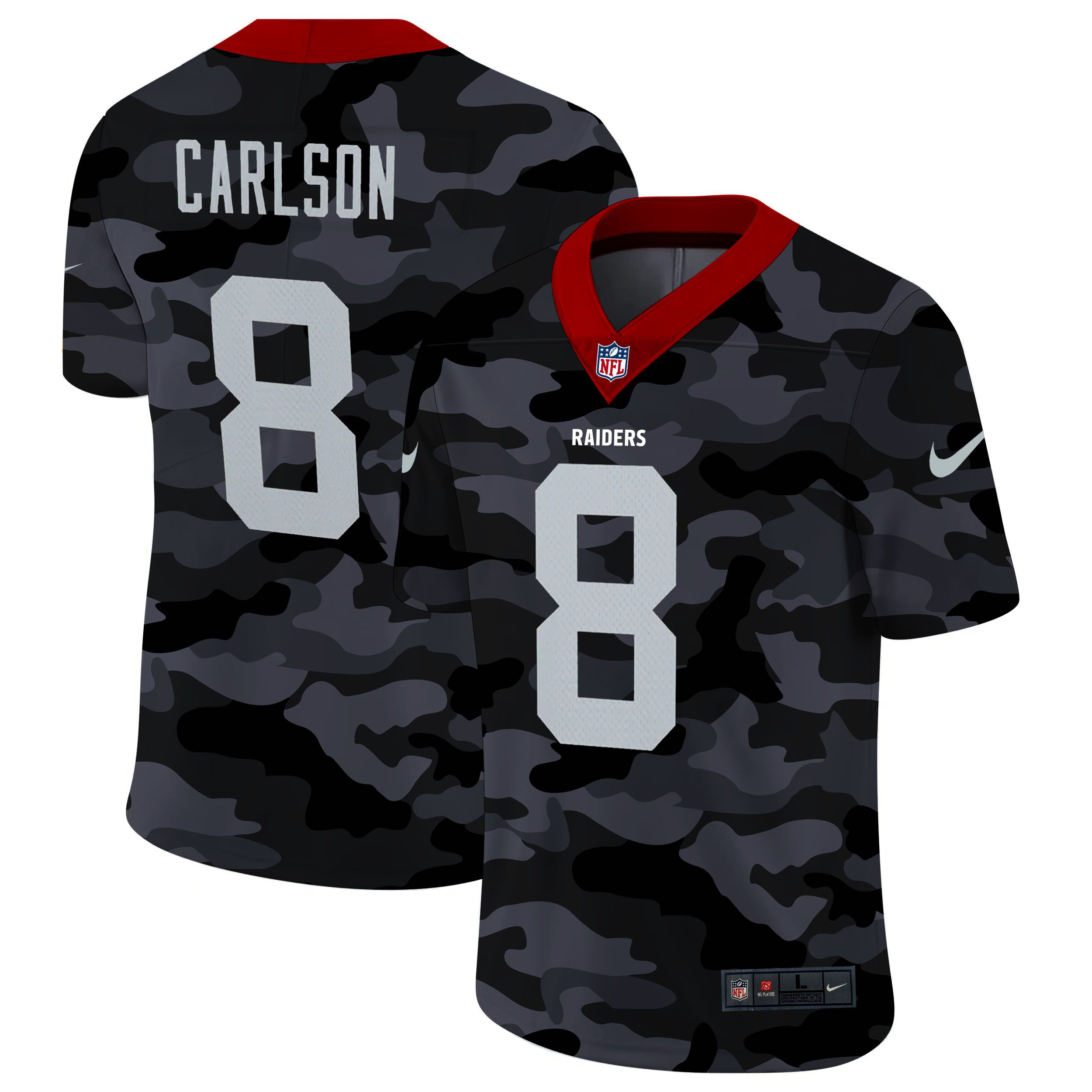 Cheap Men Oakland Raiders 8 Mariota 2020 Nike 2ndCamo Salute to Service Limited NFL Jerseys
