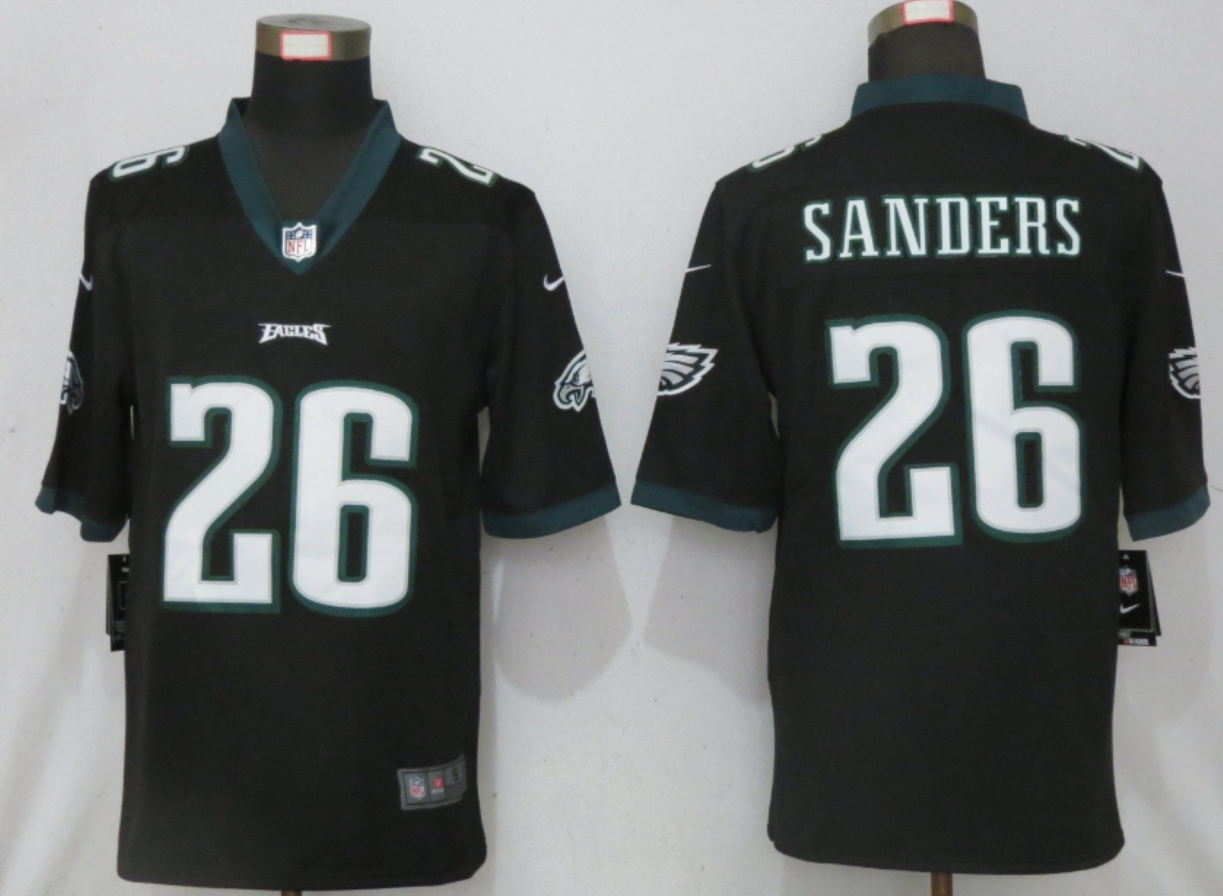 Wholesale Men Philadelphia Eagles 26 Sanders Black 2020 Vapor Untouchable Limited Nike NFL Jersey