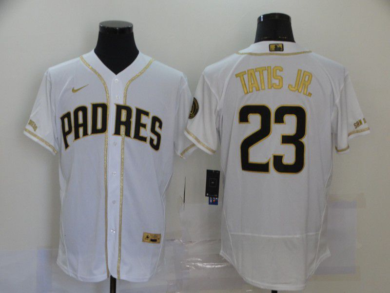 Cheap Men San Diego Padres 23 Tatis jr White Nike Elite MLB Jerseys