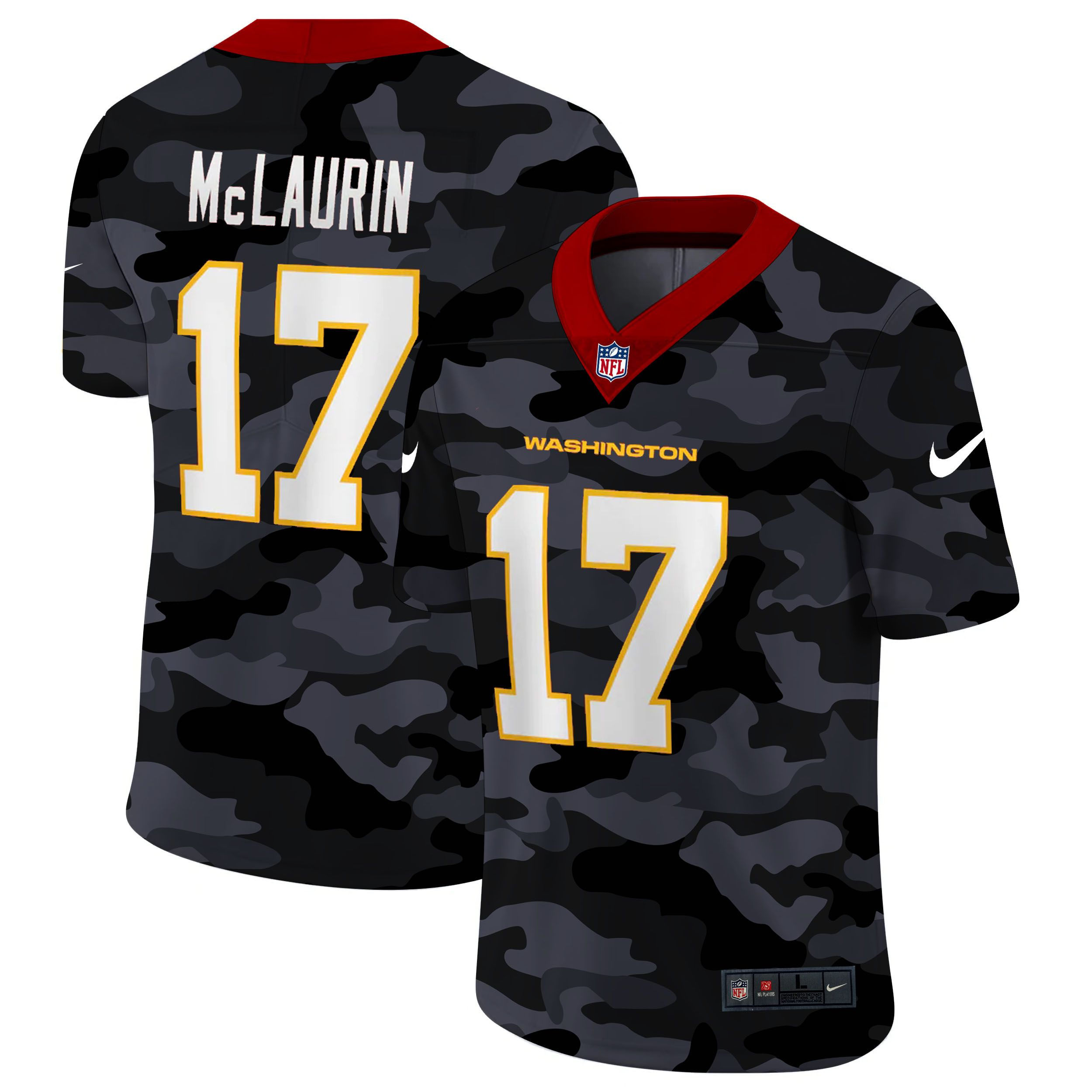 Wholesale Men Washington Redskins 17 Mclaurin 2020 Nike Camo Salute to Service Limited NFL Jerseys