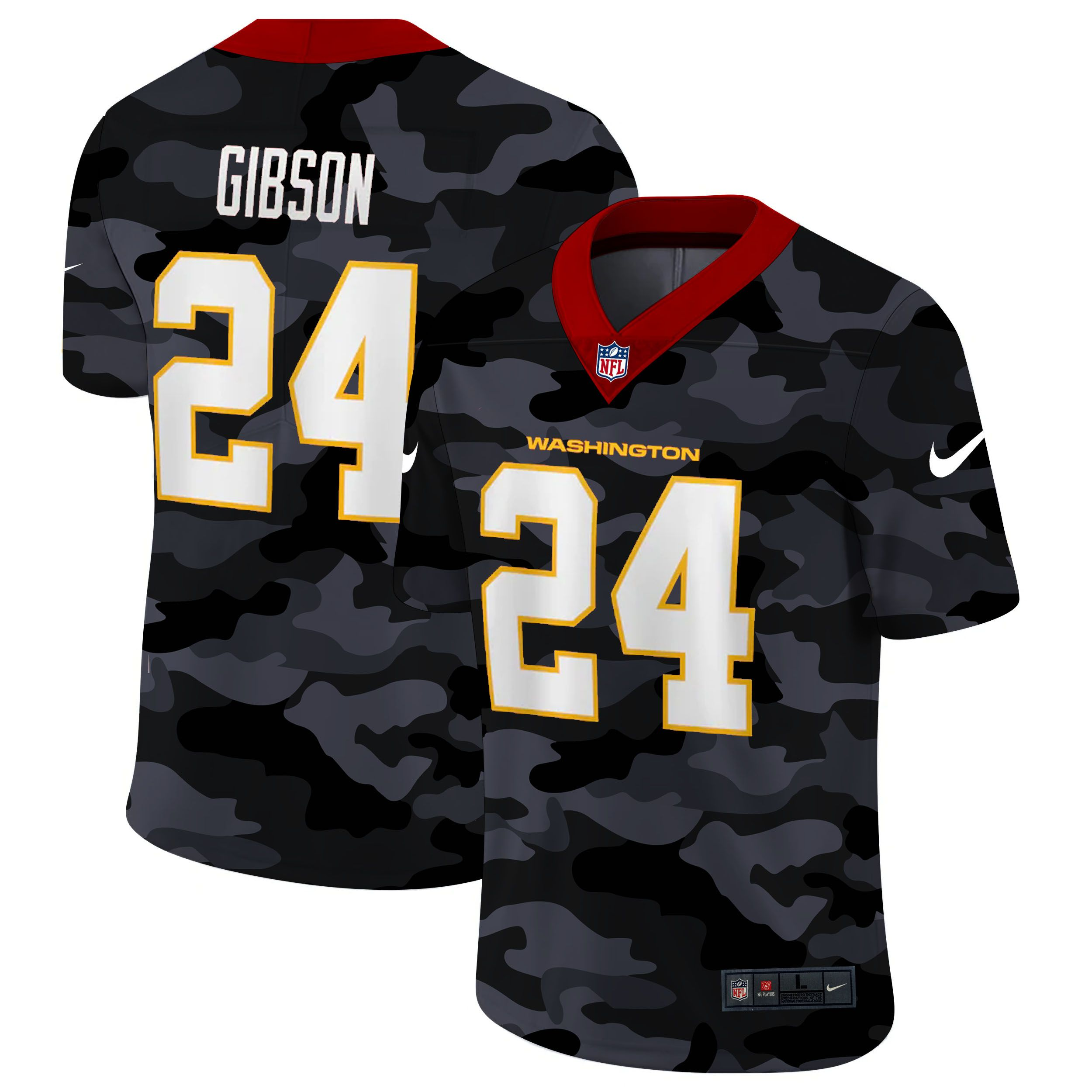 Wholesale Men Washington Redskins 24 Norman 2020 Nike Camo Salute to Service Limited NFL Jerseys