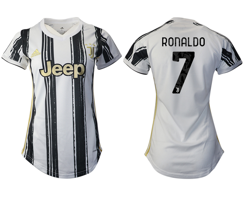 Women 2020-2021 Juventus home aaa version 7 white Soccer Jerseys