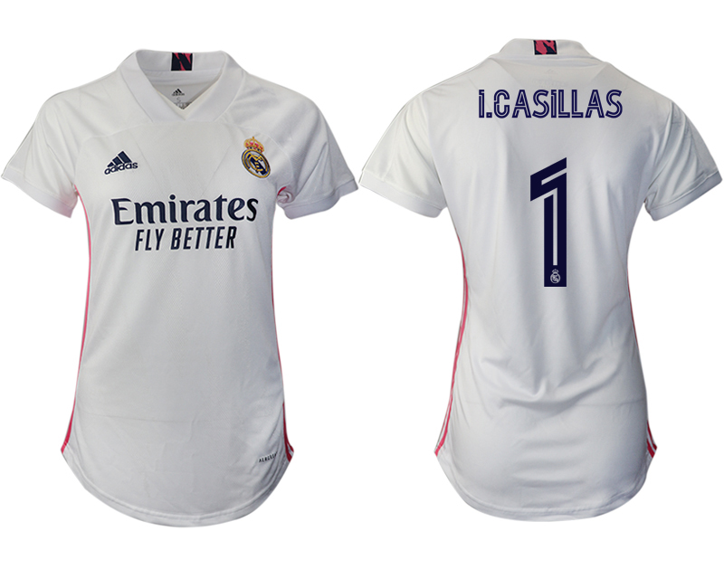 Cheap Women 2020-2021 Real Madrid home aaa version 1 white Soccer Jerseys1