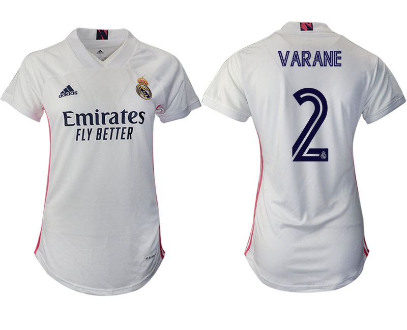 Cheap Women 2020-2021 Real Madrid home aaa version 2 white Soccer Jerseys