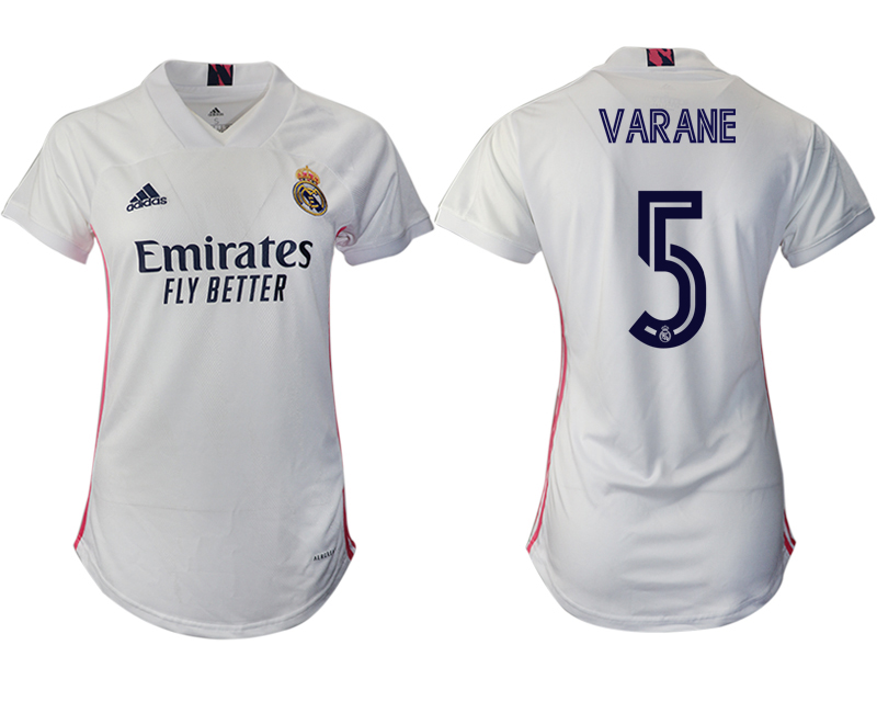 Cheap Women 2020-2021 Real Madrid home aaa version 5 white Soccer Jerseys
