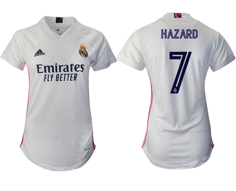 Cheap Women 2020-2021 Real Madrid home aaa version 7 white Soccer Jerseys
