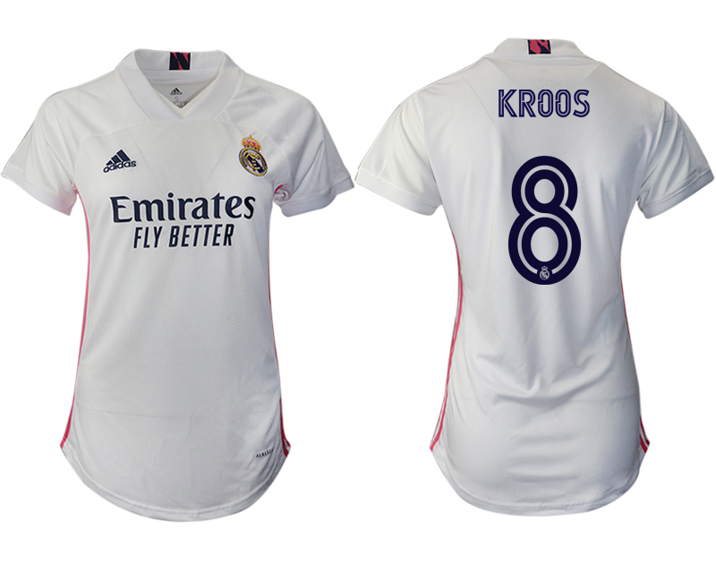 Cheap Women 2020-2021 Real Madrid home aaa version 8 white Soccer Jerseys