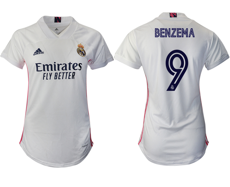 Cheap Women 2020-2021 Real Madrid home aaa version 9 white Soccer Jerseys