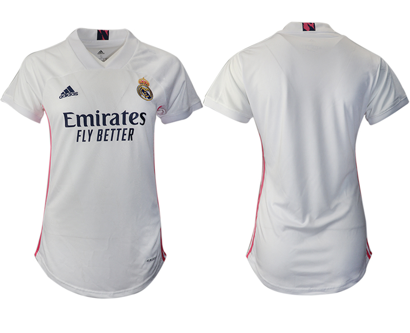 Cheap Women 2020-2021 Real Madrid home aaa version blank white Soccer Jerseys