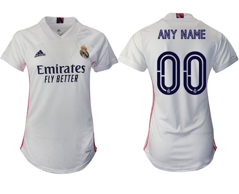 Cheap Women 2020-2021 Real Madrid home aaa version customized white Soccer Jerseys