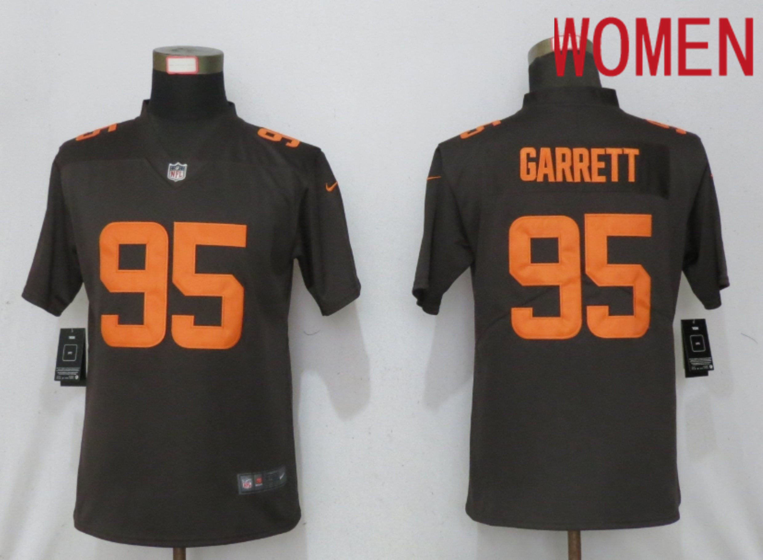 Wholesale Women Cleveland Browns 95 Garrett Brown lternate Vapor Elite Playe Nike NFL Jersey