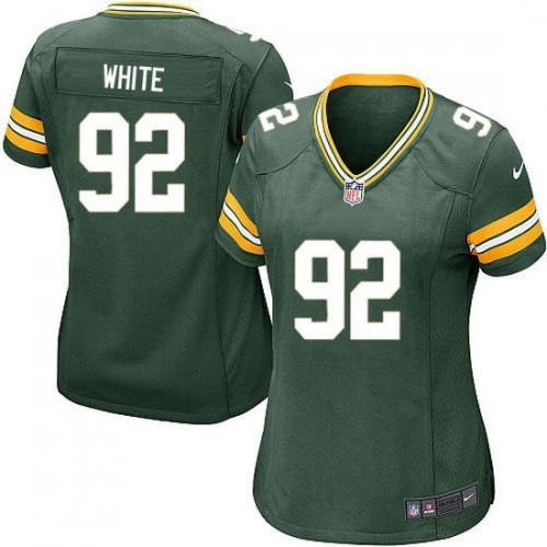 Cheap Women Green Bay Packers 92 White Green Nike Limited Player NFL Jerseys