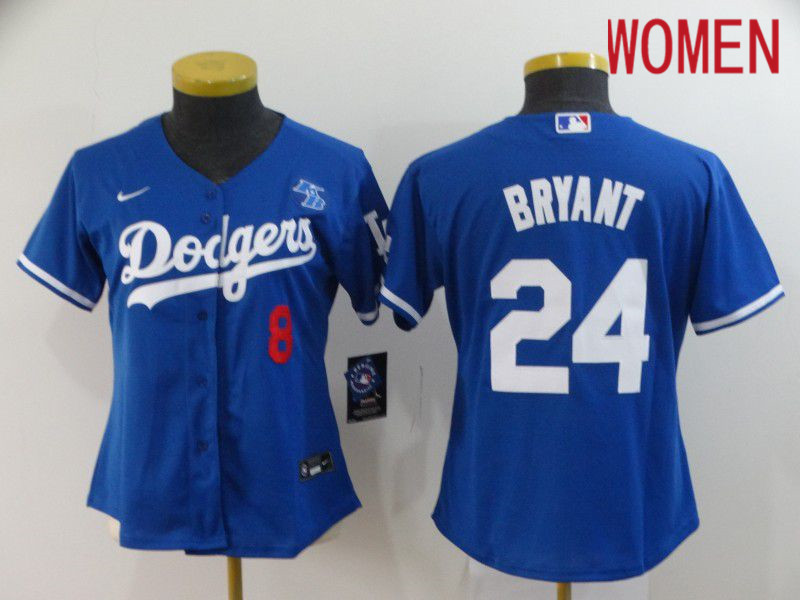 Cheap Women Los Angeles Dodgers 24 Bryant Blue Nike 2020 Game MLB Jerseys