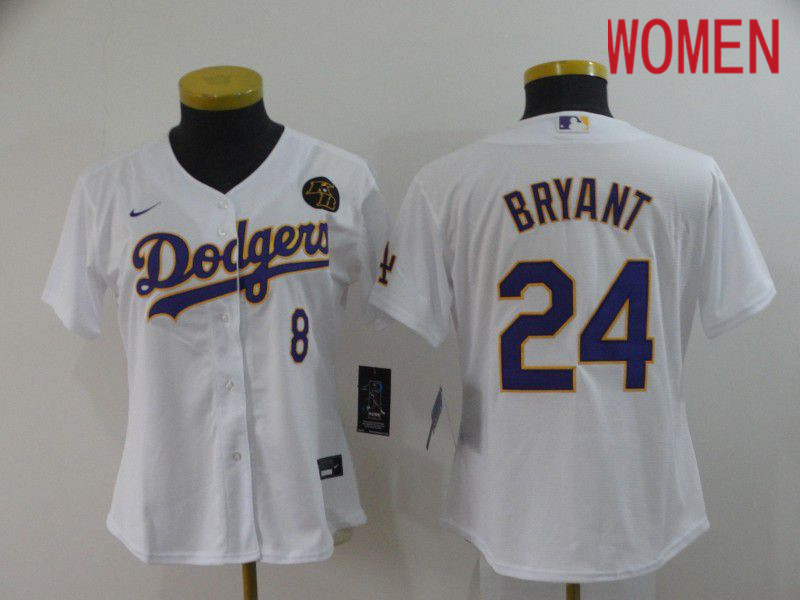 Cheap Women Los Angeles Dodgers 24 Bryant White Nike 2020 Game MLB Jerseys