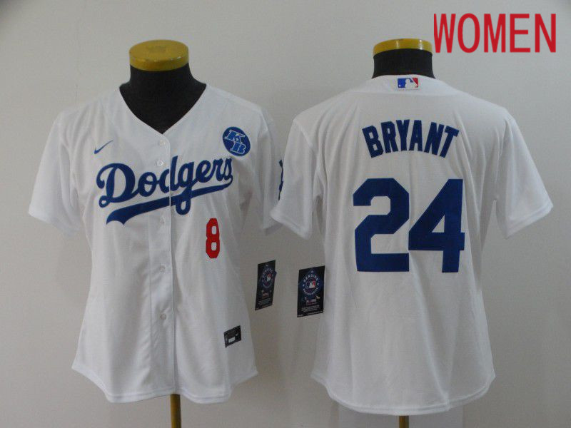 Cheap Women Los Angeles Dodgers 24 Bryant White Nike 2020 Game MLB Jerseys1