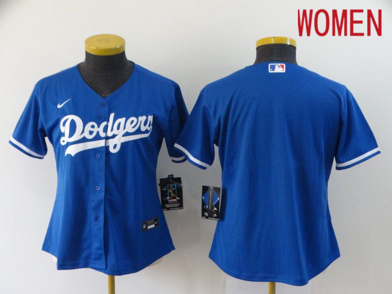 Cheap Women Los Angeles Dodgers Blank blue 2020 Game MLB Jerseys