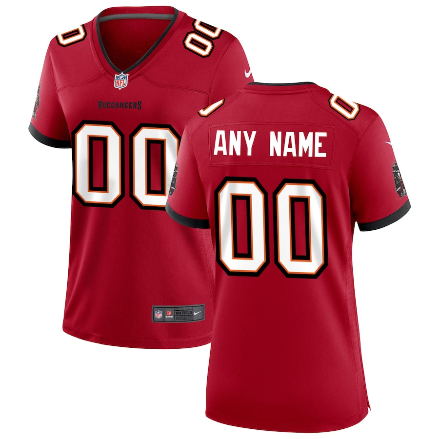 Cheap Women Nike Tampa Bay Buccaneers Red Custom Game Jersey