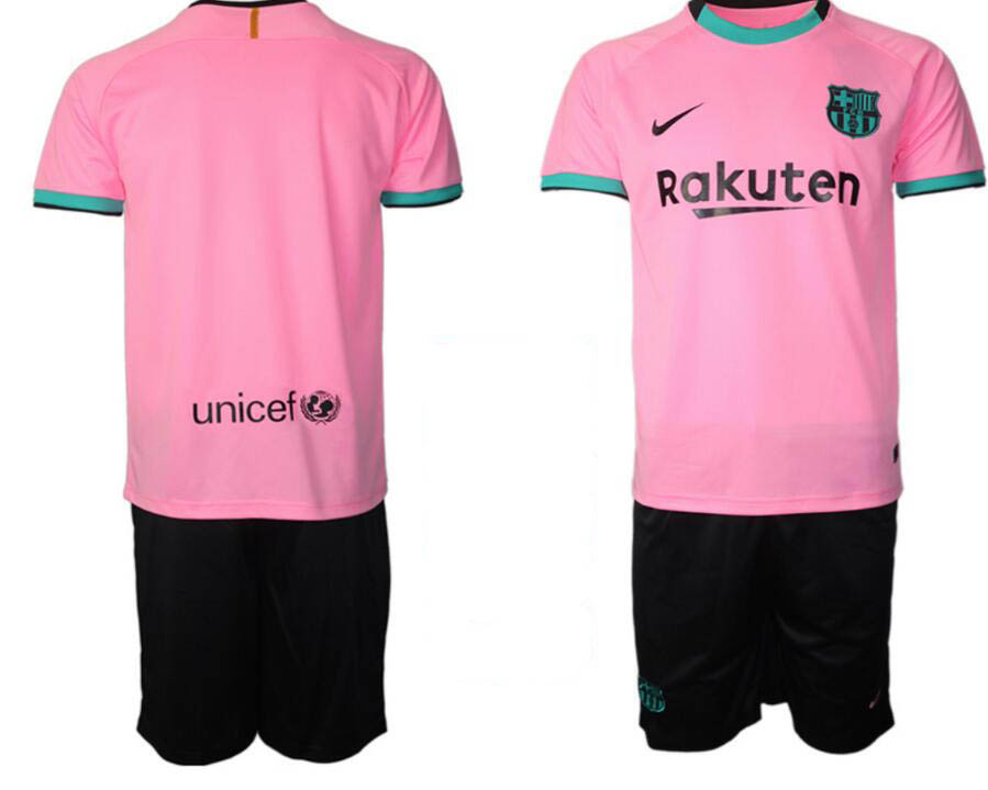 Wholesale 2020-2021 club Barcelona away blnk pink soccer jerseys