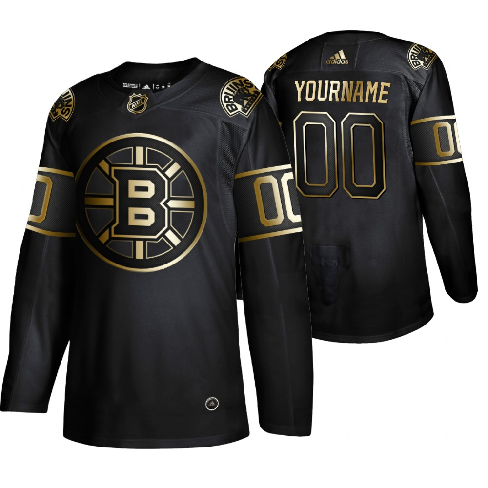 Wholesale Adidas Bruins Custom Men 2019 Black Golden Edition Authentic Stitched NHL Jersey