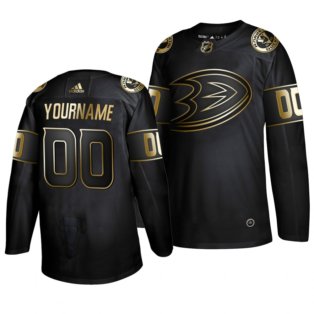 Cheap Adidas Ducks Custom Men 2019 Black Golden Edition Authentic Stitched NHL Jersey