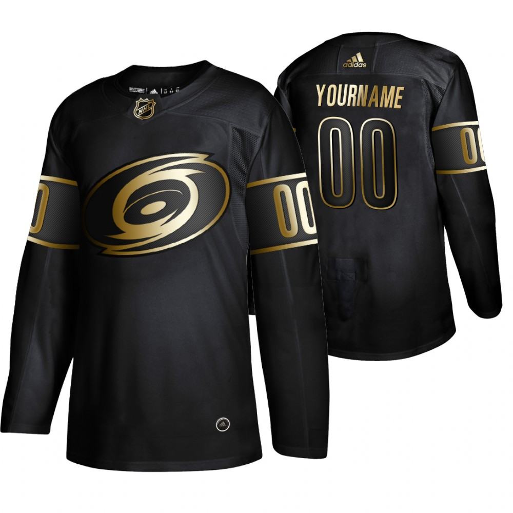 Wholesale Adidas Hurricanes Custom Men 2019 Black Golden Edition Authentic Stitched NHL Jersey