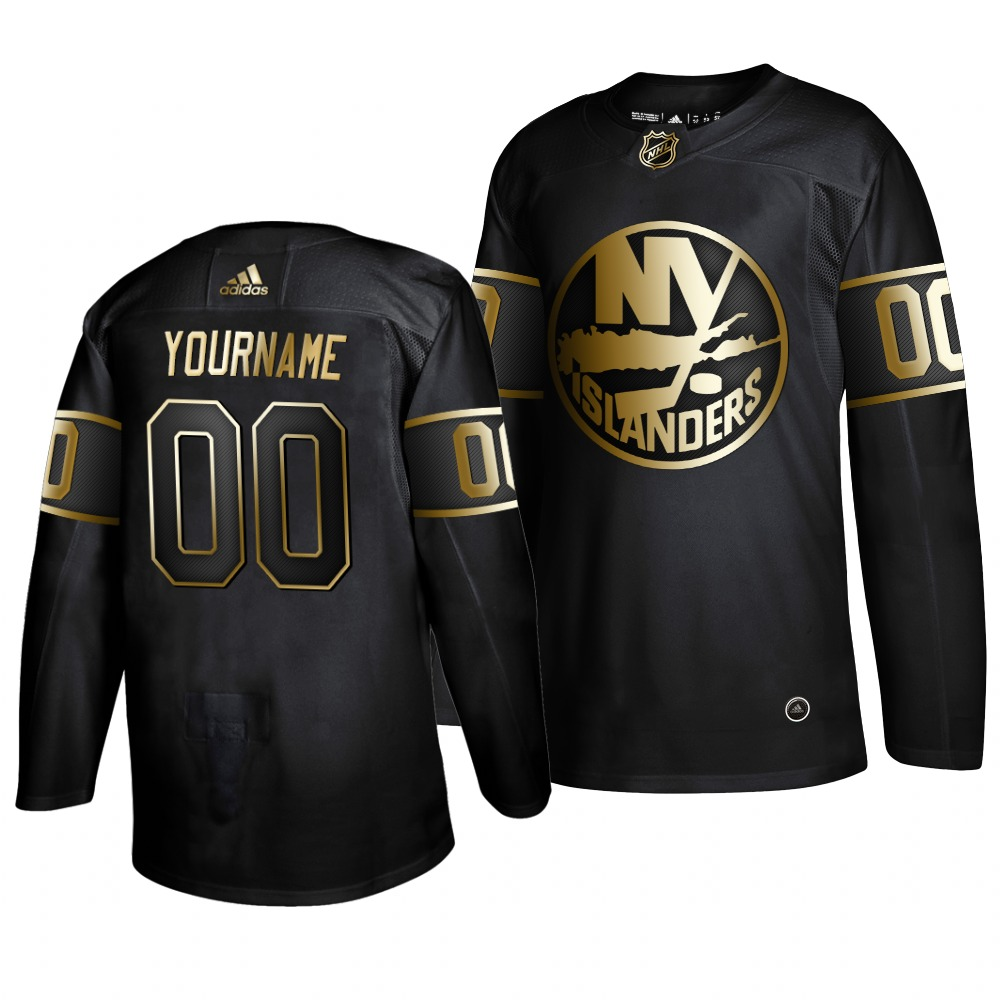 Wholesale Adidas Islanders Custom Men 2019 Black Golden Edition Authentic Stitched NHL Jersey