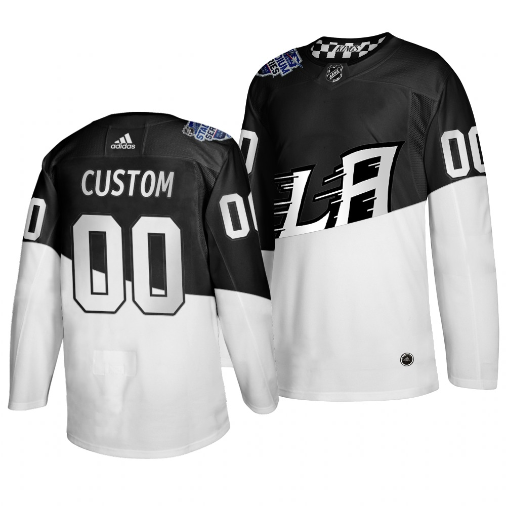 Wholesale Adidas Los Angeles Kings Custom Men 2020 Stadium Series White Black Stitched NHL Jersey