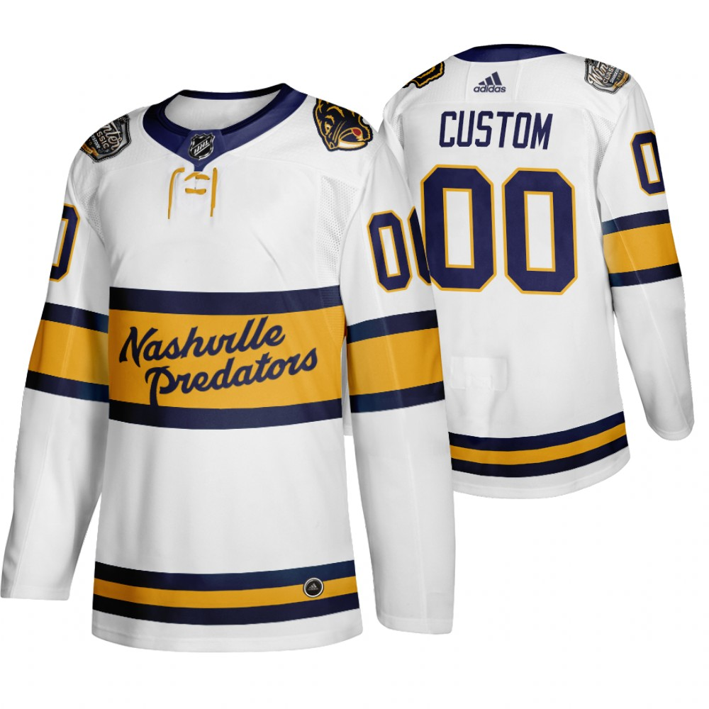 Cheap Adidas Predators Custom Men White 2020 Winter Classic Retro Authentic NHL Jersey