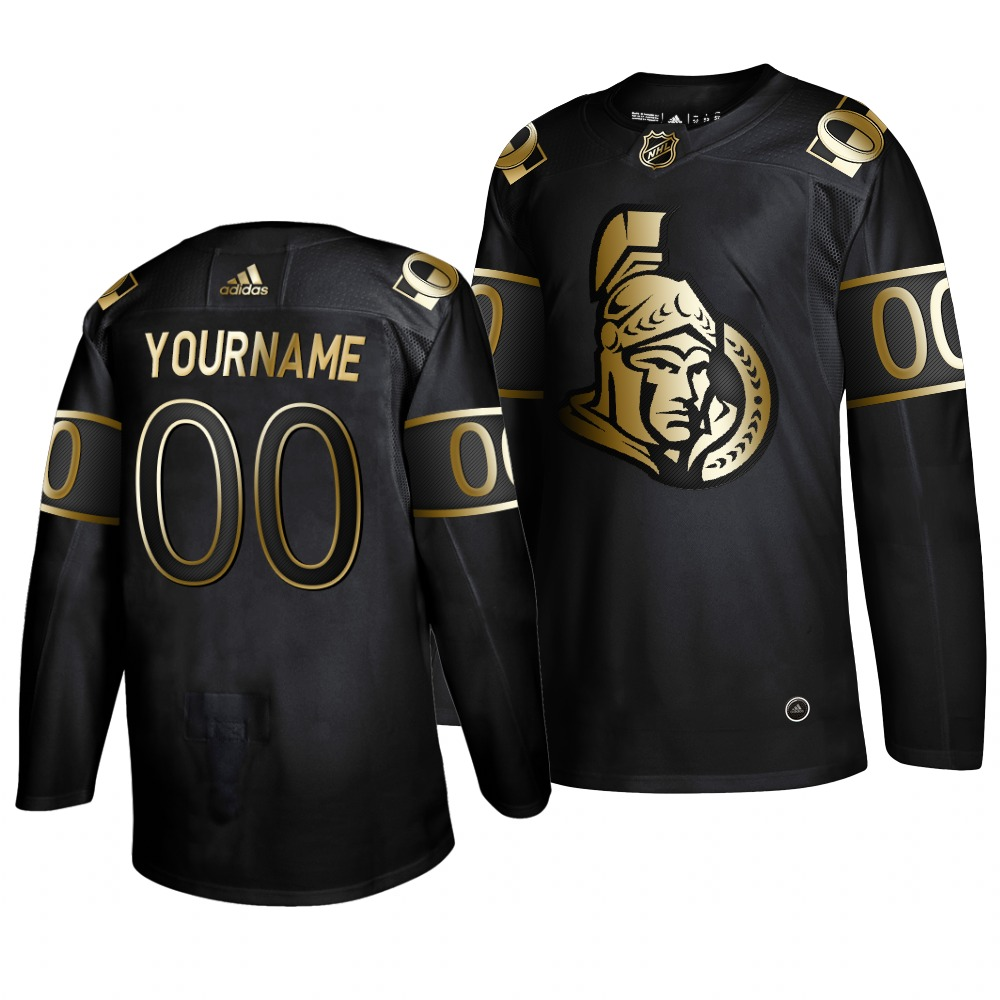 Wholesale Adidas Senators Custom_senators Men 2019 Black Golden Edition Authentic Stitched NHL Jersey