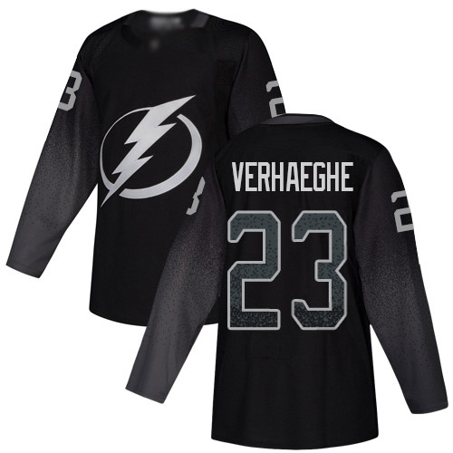 Cheap Adidas Tampa Bay Lightning Men 23 Carter Verhaeghe Black Alternate Authentic Stitched NHL Jersey