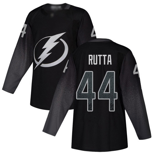 Cheap Adidas Tampa Bay Lightning Men 44 Jan Rutta Black Alternate Authentic Stitched NHL Jersey