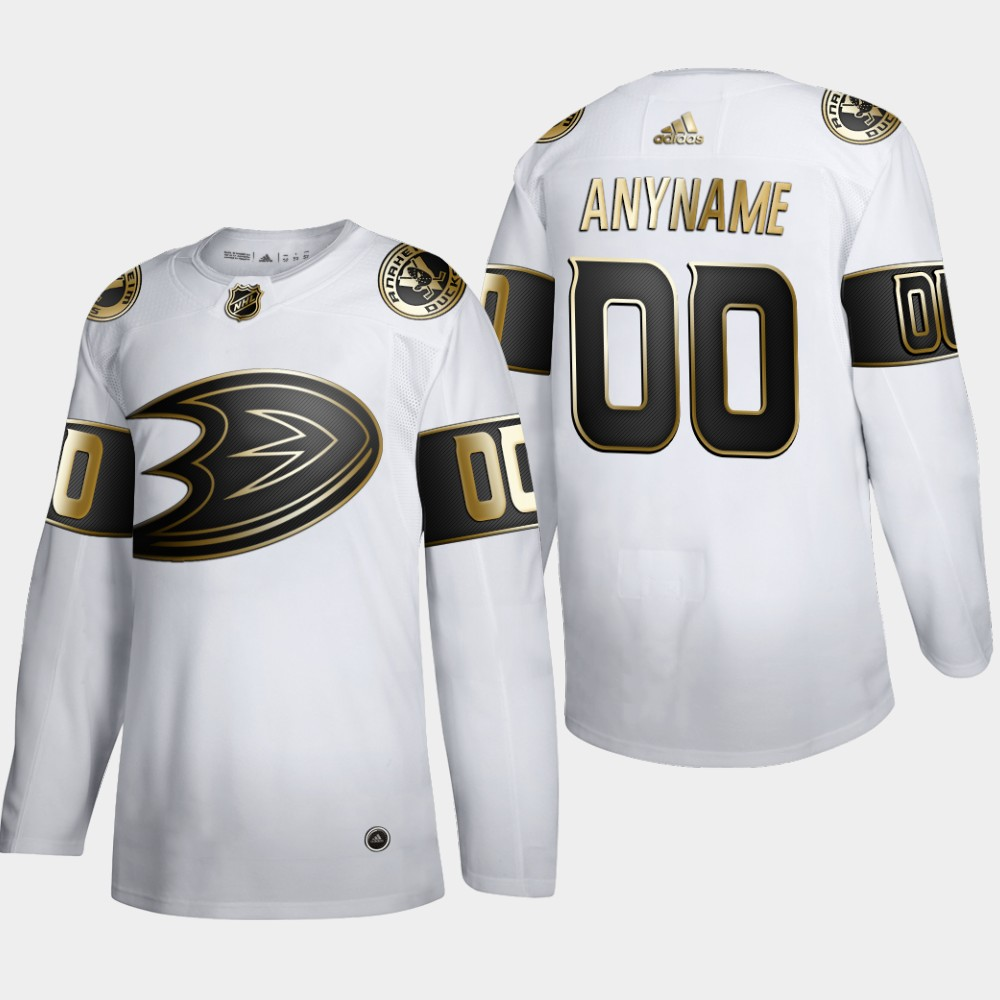 Cheap Anaheim Ducks Custom Men Adidas White Golden Edition Limited Stitched NHL Jersey